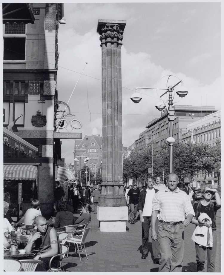 De mirakelkolom op het Rokin, jaren tachtig, collectie Stadsarchief Amsterdam