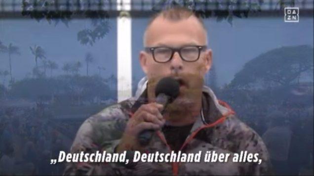Volkslied nazi-Duitsland gezonden voor tennis-interland