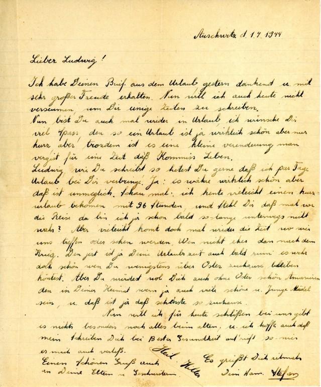 De brief van de SS'er (auschwitz.org)