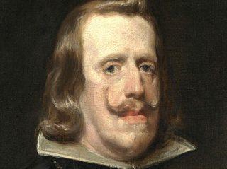 Filips IV in 1656 naar een schilderij van Diego Velazques