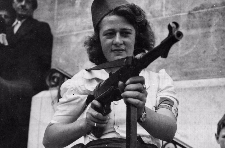 Simone Segouin, een stoere Française (U.S. National Archives)
