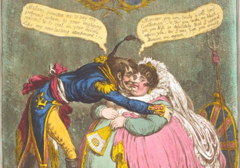 Spotprent over de Vrede van Amiens - Library of Congress