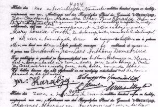 Geboorteakte Constantin Karadja (1889)