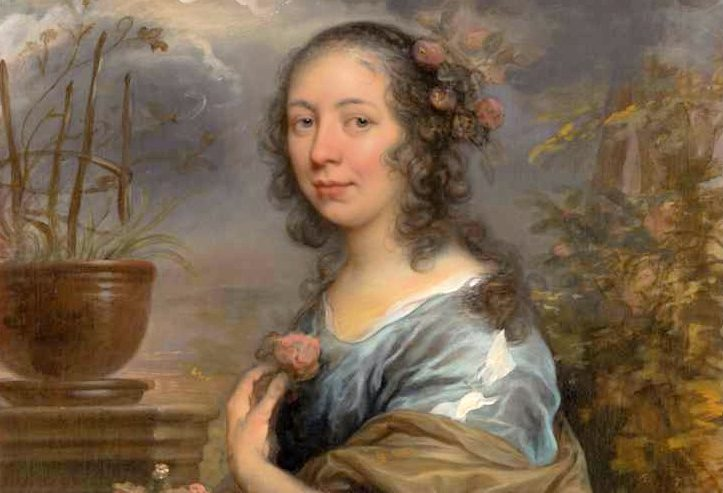 Margaretha Tulp geschilderd door Govert Flinck, Collectie Six, Amsterdam (detail)