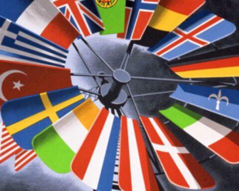Detail van een Marshallplan-poster