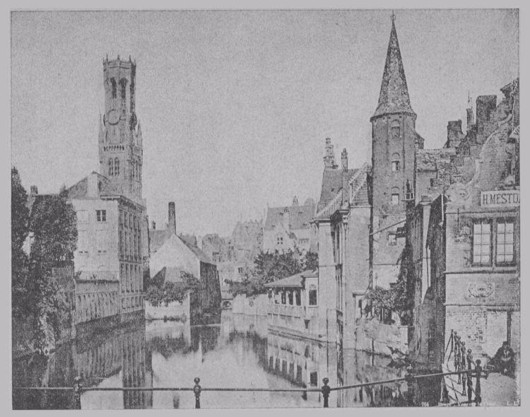 Bruges-la-Morte (De Rozenhoedkaai met op de achtergrond het Belfort)