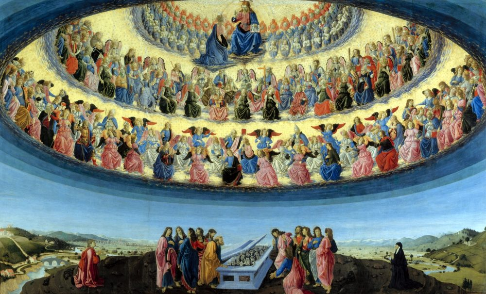 In de zevende hemel zijn - De hemel door Francesco Botticini