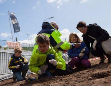 Foto genomen tijdens de publieksactiviteit Nijmegen Graaft