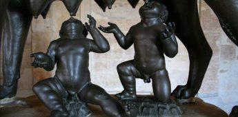 Romulus en Remus en de stichting van Rome (ca. 753 v.Chr.)