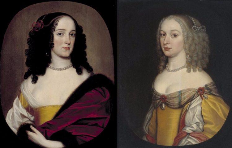 Anna Trajectina (Treesje) en Amalia (Amélie) Margaretha van Brederode, door Gerard van Honthorst, 1650-1656, Instituut Collectie Nederland