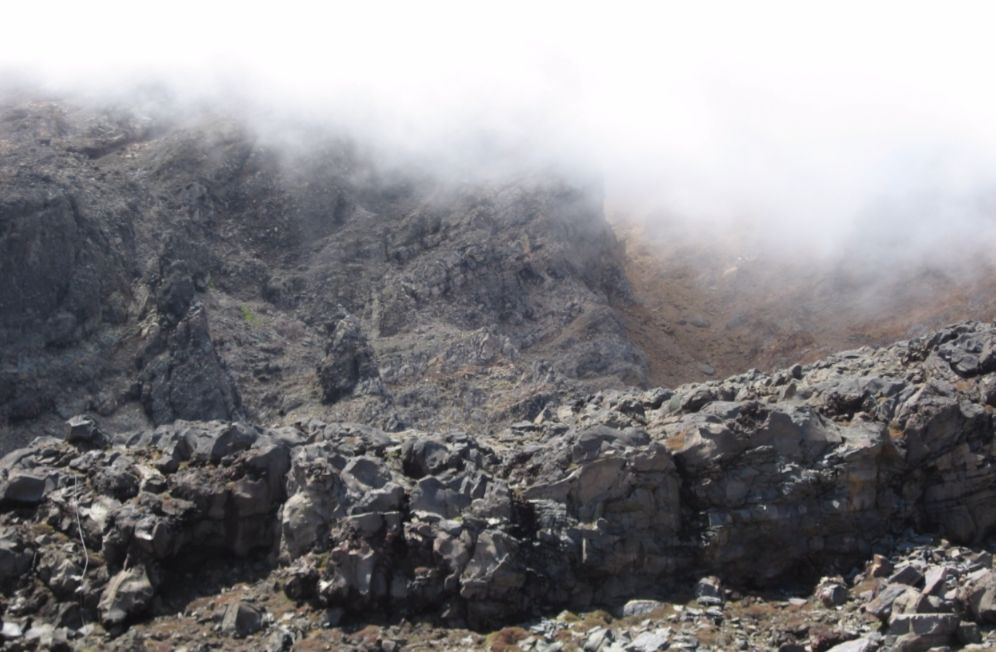 Het landschap van Mordor zoals het wordt weergegeven in de Lord of the Rings-filmtrilogie van regisseur Peter Jackson (Nationaal park Tongariro, Nieuw-Zeeland)
