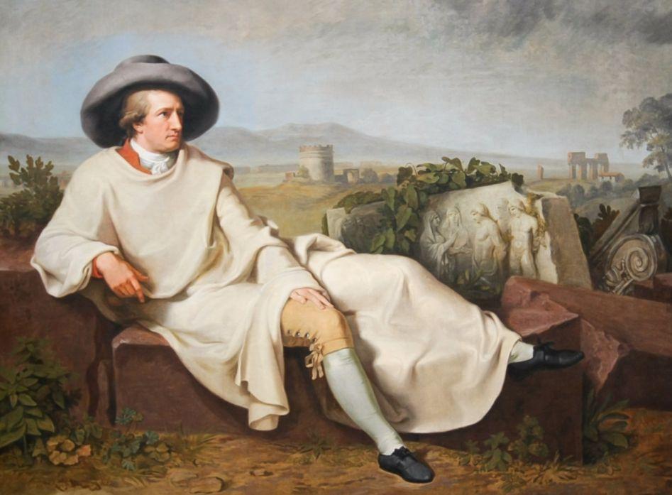 Johann Wolfgang von Goethe in Italië, door Tischbein