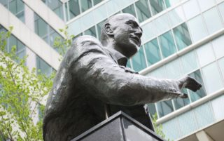 Standbeeld van Pim Fortuyn in Rotterdam