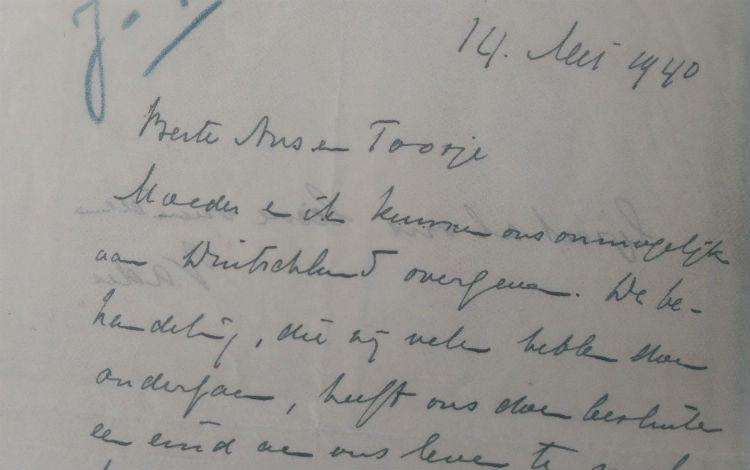 Afscheidsbrief van Leonard Polak Daniels (Mij krijgen ze niet klein)