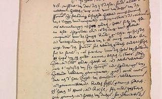 Nationaal Archief, archief NL-HaNA Raadpensionaris De Witt, 3.01.17, A1. - Brief van Johan de Witt aan neef Van Hoogeveen, 29 november 1650