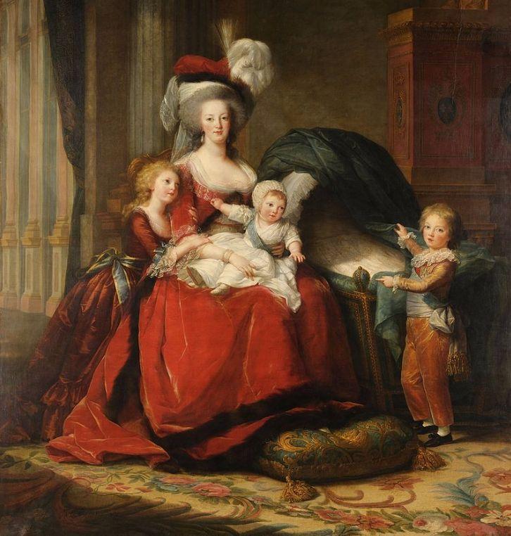 Koningin Marie-Antoinette, in 1787, door Élisabeth Vigée-Le Brun.
