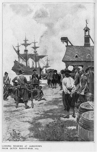 De eerste Afrikanen in Jamestown, 1619