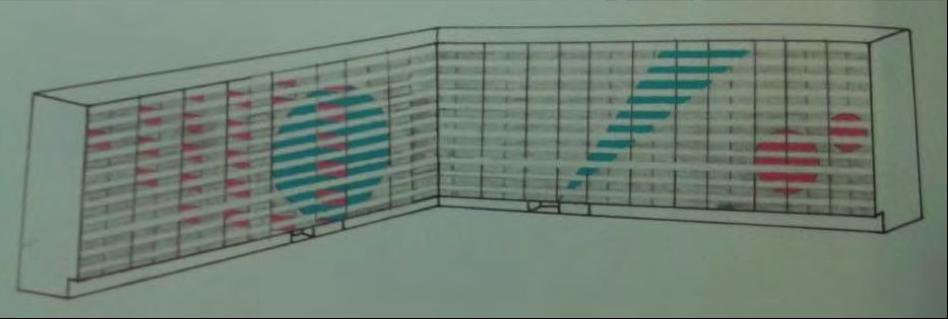 Voorstellen Edwin Boering voor het beschilderen van de flats: herkenbaarheid. Bron: JHSG