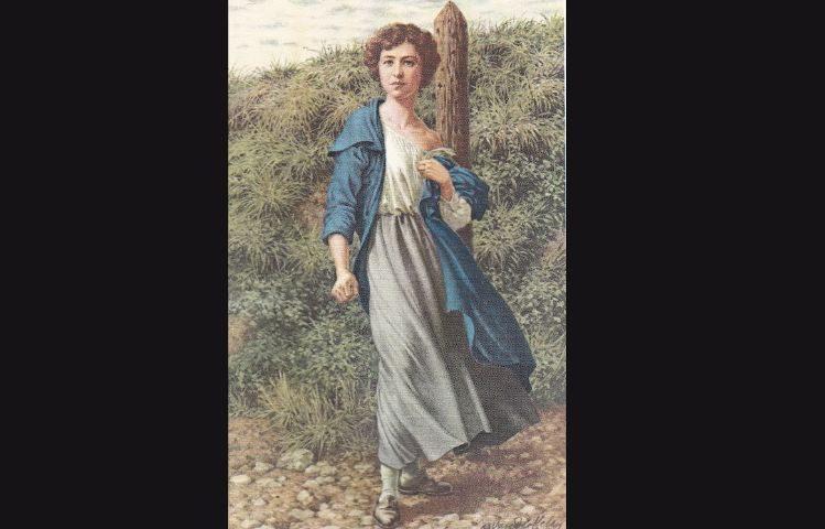 De 23-jarige Gabrielle Petit, kort voor haar executie (bron onbekend)