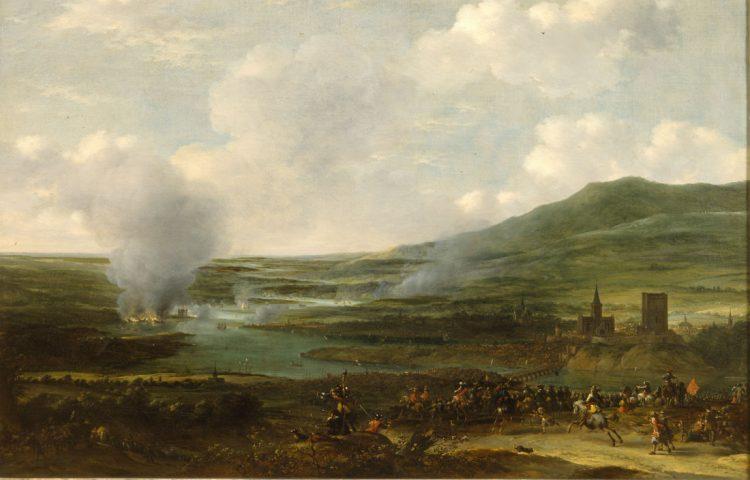 De Tocht naar Chatham, schilderij door Willem Schellinks ca. 1667. Collectie Het Scheepvaartmuseum