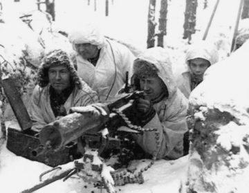 Finse militairen tijdens de Fins-Russische Winteroorlog