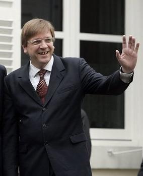 Guy Verhofstadt als premier in 2005 (Witte Huis)