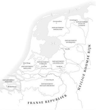 Het Bataafs Gemenebest in 1802.