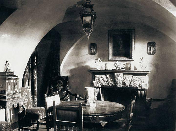 Kelder in het paleis. Hier werd Raspoetin vermoord.