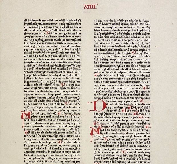 Summa Theologiæ, Pars secunda, prima pars. (kopie door Peter Schöffer, 1471)