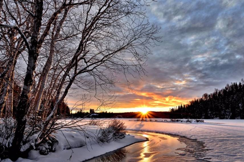 Winterlandschap (cc - Pixabay - AlainAudet)