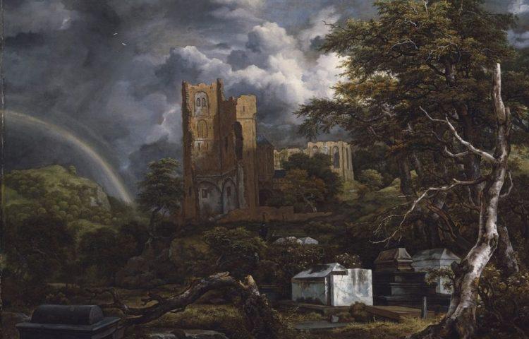 Ruïnes van de Sint-Adelbertabdij door Jacob van Ruisdael ca. 1655