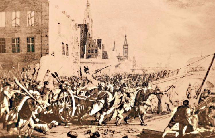 Brabantse Omwenteling - Veldslag in de straten van Gent, november 1789.