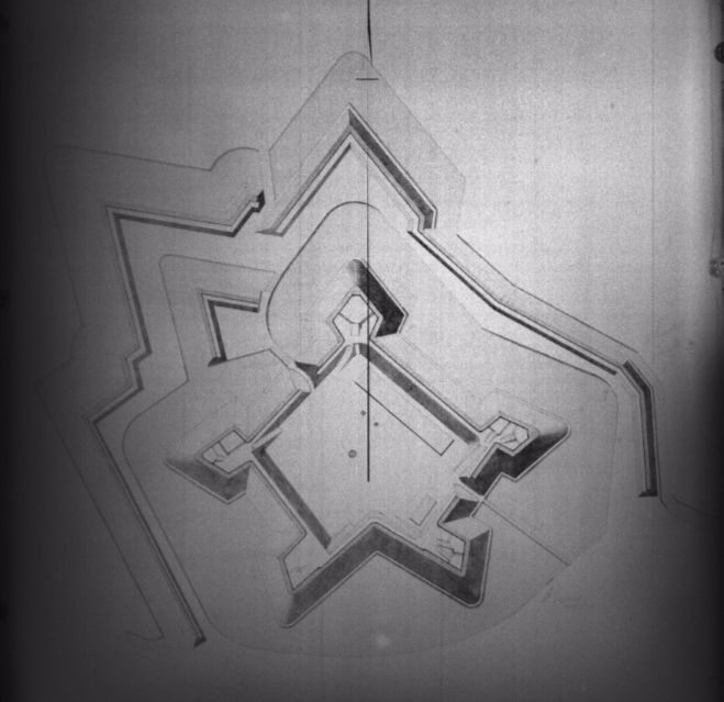 Oude Schans, plattegrond na opmeting genie 1893 (cc - RCE)