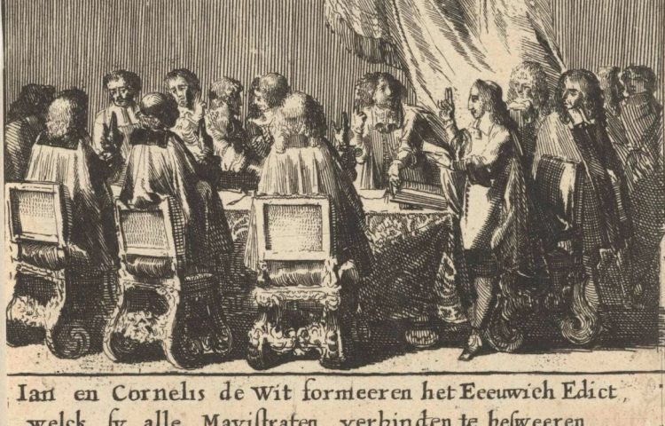 Aanname van het Eeuwig Edict door de Staten van Holland - Romeyn de Hooghe, 1675 (Rijksmuseum)