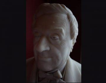 Buste van Jean-Baptiste Madou (detail), uit marmer gehouwen door Charles Van Oemberg
