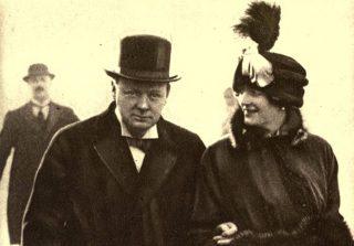 Clementine Churchill met haar man