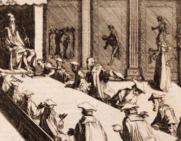 De hertog van Alva zit de Raad van Beroerten voor