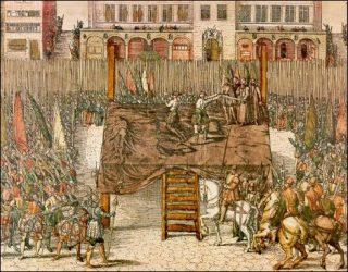 De onthoofding Egmont en Horne in 1568