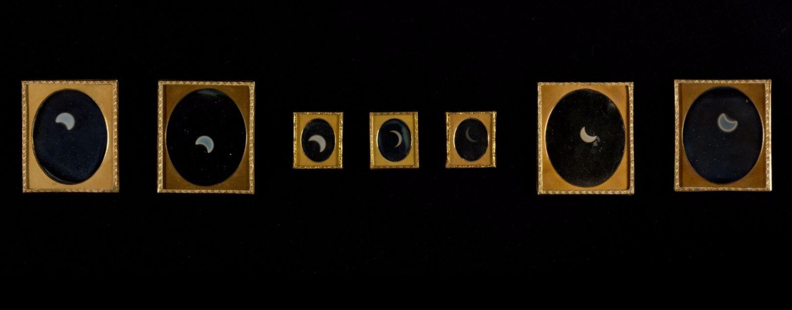Foto's die de broers Langenheim van de zonsverduistering maakten (Metropolitan Museum of Art)