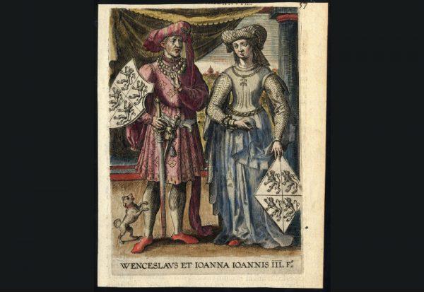 Johanna van Brabant en Wenceslas I, hoofdrolspelers in de Brabantse Successieoorlog