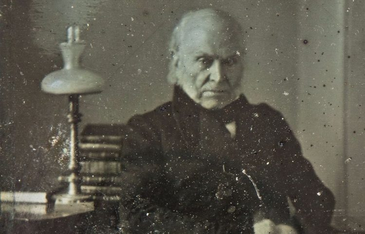 John Quincy Adams in 1843 (Sotheby's)