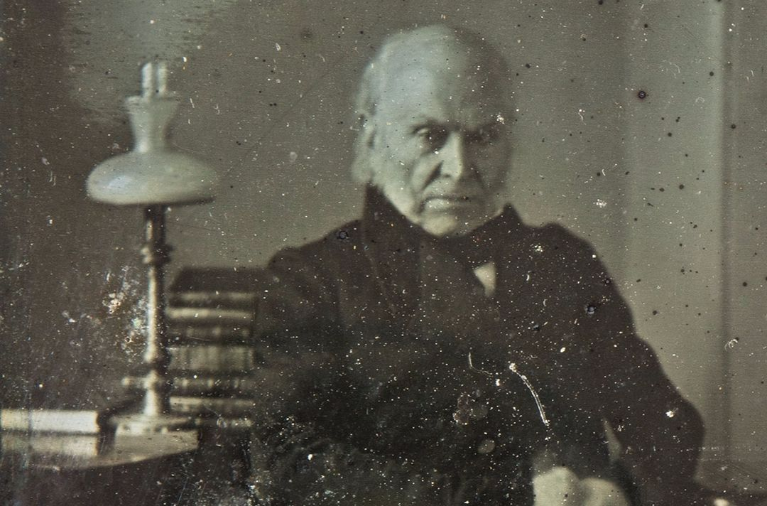 John Quincy Adams in 1843 (Sotheby's)