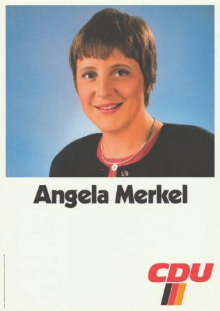 Portret Angela Merkel (1995) bij de CDU - cc/ACDP