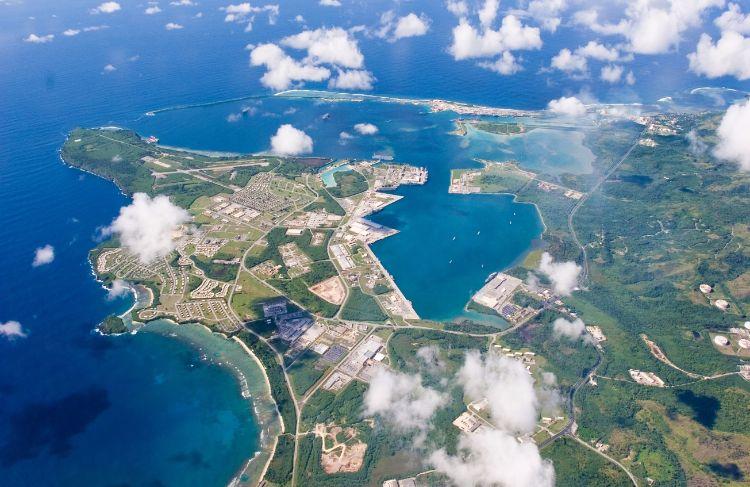 Marine- en luchtmachtbasis op Guam, de Andersen Air Force Base