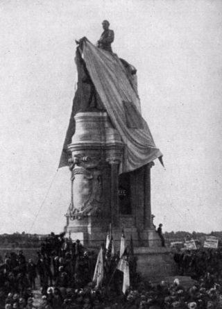Onthulling van een standbeeld van Robert E. Lee in Richmond - 29 mei 1890