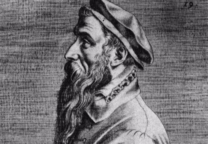 Quasi-eigentijds portret van Pieter Bruegel de Oude, toegeschreven aan Jan Wierix, uit Pictorum celebrium effigies