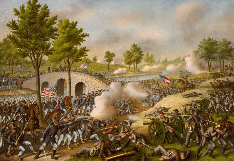 Slag bij Antietam - De gevechten bij Stone Bridge.