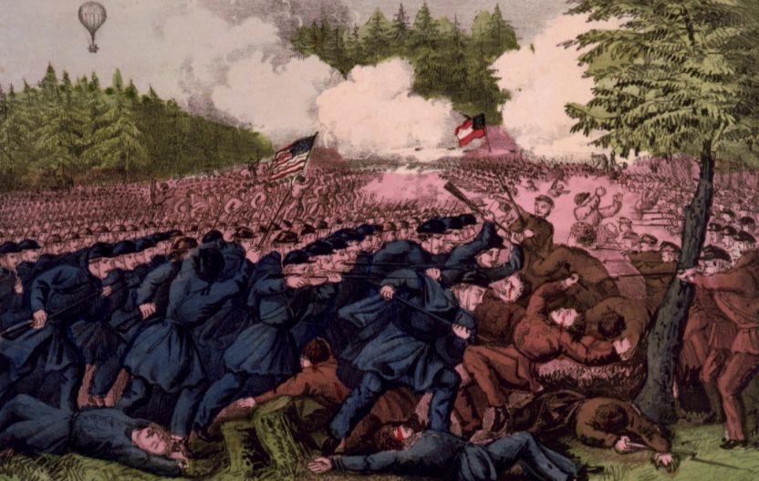 Slag bij Seven Pines ( Currier & Ives)