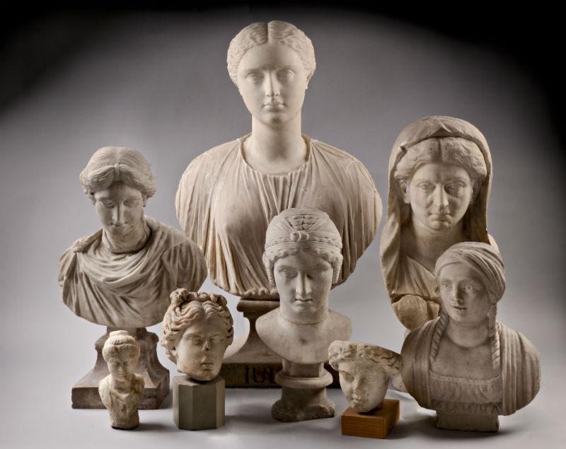 Portretten van Romeinse dames - Marmer, 1ste eeuw tot 17de eeuw, herkomst divers (RMO)
