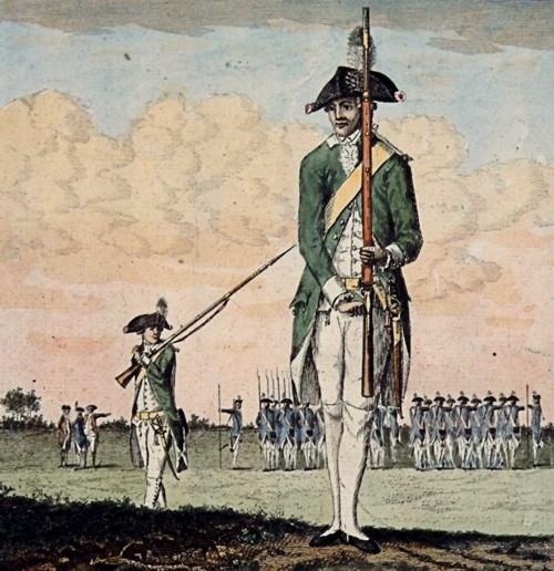 Leden van het eerste exercitiegenootschap De Vrijheid, opgericht in Dordrecht in 1783
